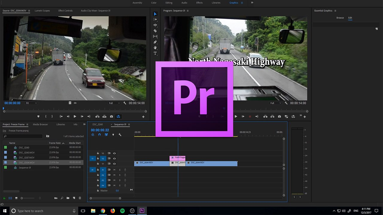 how to create freeze frames in adobe premiere pro cc 2018