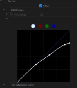 Night and Day Color Adjustment Graph