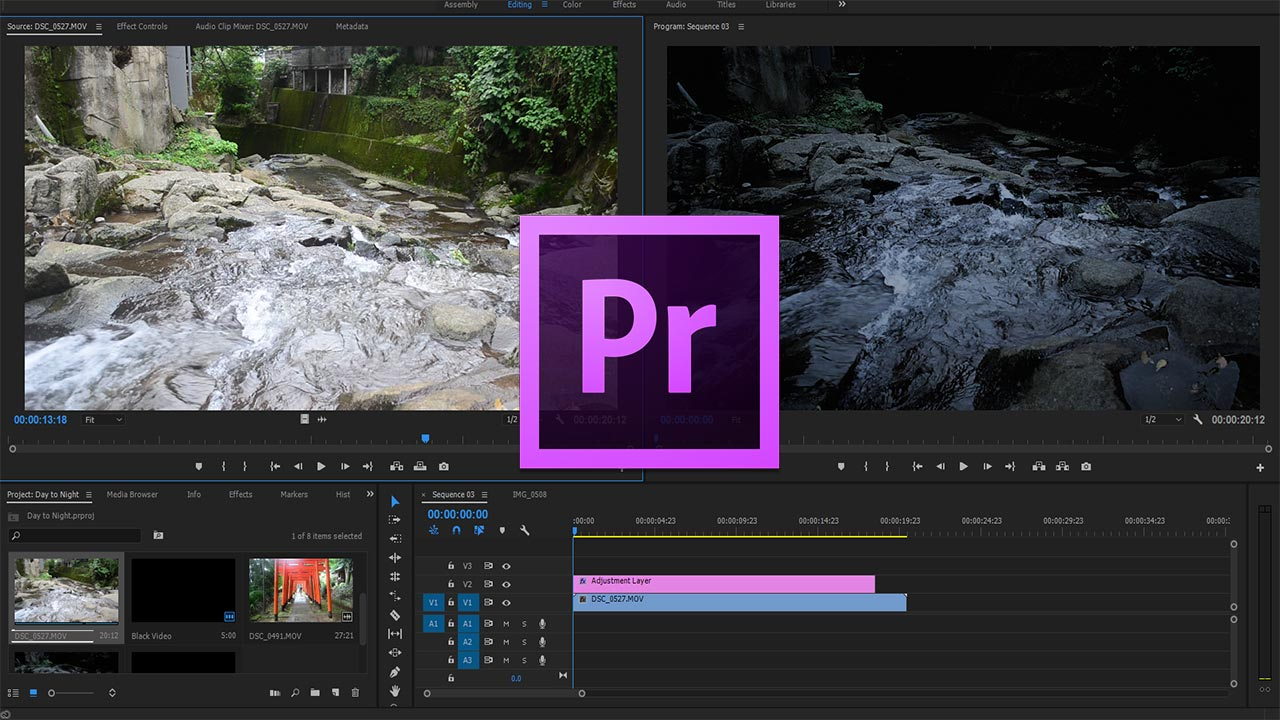 How to Transform Day to Night in Adobe Premiere Pro CC (2017