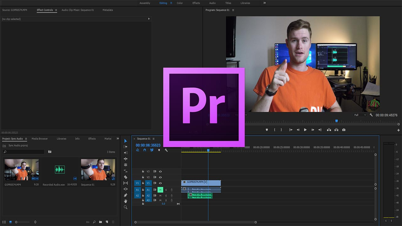 How to Quickly Synchronize Audio in Adobe Premiere Pro CC